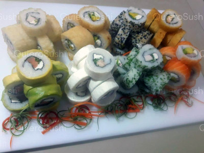 88 piezas de sushi en Sushi Rolls Liam, Ñuñoa
