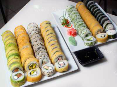 77 piezas de sushi en Sushi Rolls Liam, Providencia