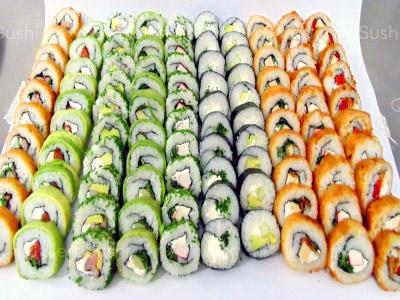 105 piezas de sushi en Sushi Bubba Gump, Ñuñoa