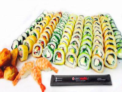 108 piezas de sushi en Sushi Bubba Gump, Ñuñoa