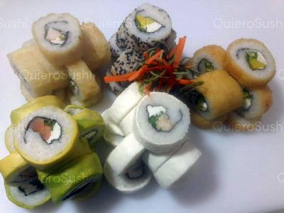 55 piezas de sushi en Sushi Rolls Liam, Providencia