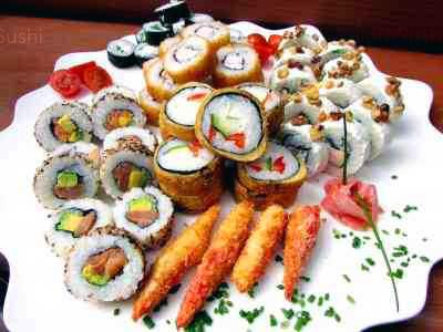 59 piezas de sushi en Sushi Big Bang! Ex Bubba, Ñuñoa