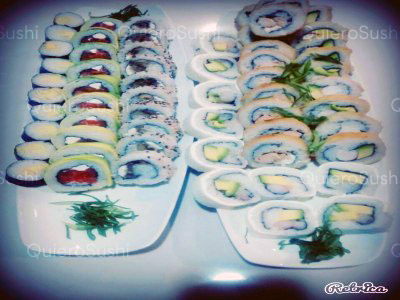 60 piezas de sushi en Mendoza Sushi, Ñuñoa