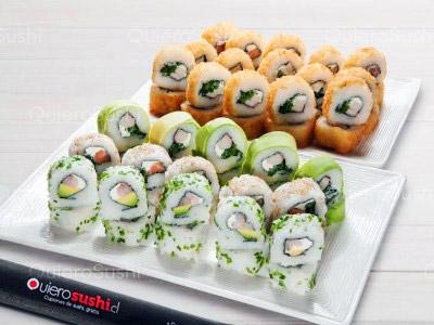 70 piezas de sushi en Japón Express Sushi, La Florida