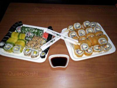 80 piezas de sushi en Mae Sushi, Maipu