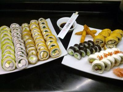 83 piezas de sushi en High Sushi, Santiago Centro