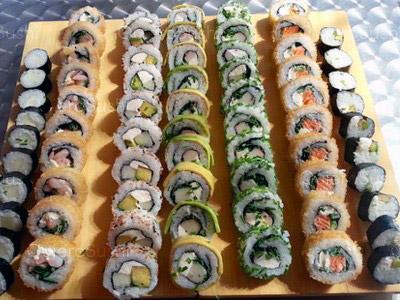 70 piezas de sushi en Mae Sushi, Maipú